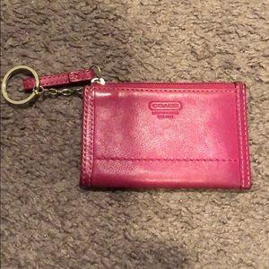 Petite Pink Coach Wallet
